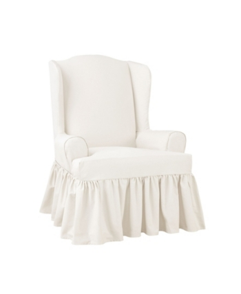 Sure Fit Essential Twill 1 Piece Slipcover Slipcovers For Chairs