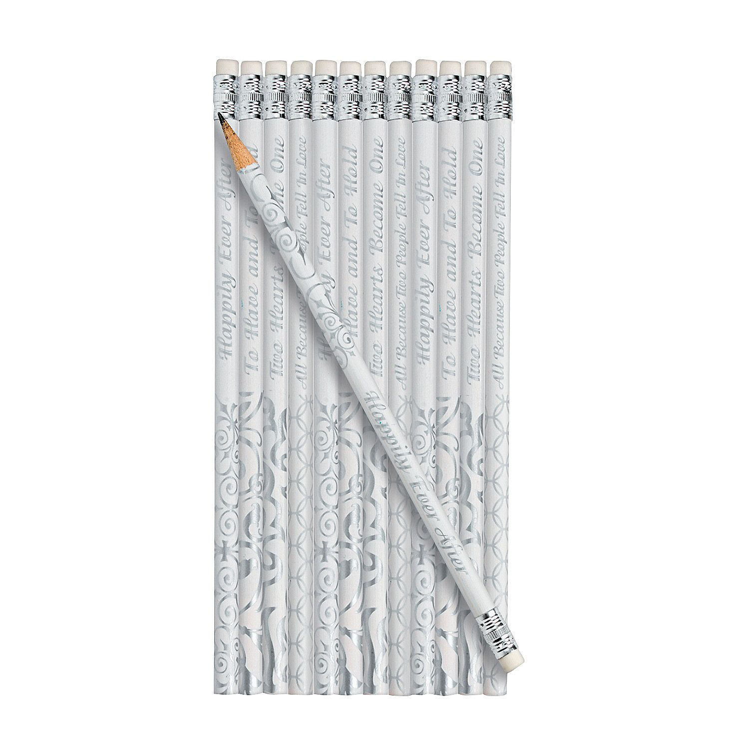 """To Have And To Hold"""" Wedding Bell Pencils - OrientalTrading.com ..."""