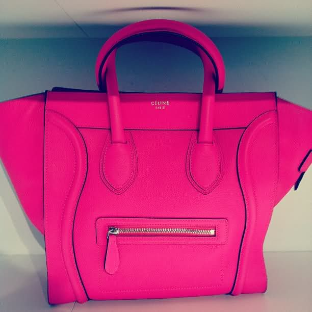 Celine Luggage Tote | Carried Away | Pinterest | Celine, Hot pink ...