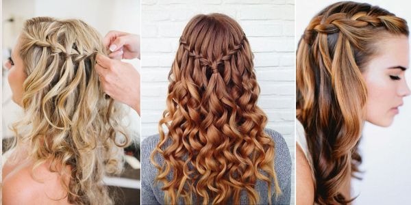 Curly Hair Waterfall Braid Alldaychic In 2020 Braids With Curls Curly Hair Pictures Hair Styles