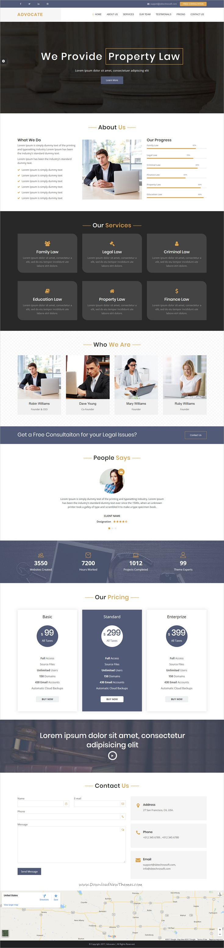 Advocate is clean and modern design responsive #HTML template for ...