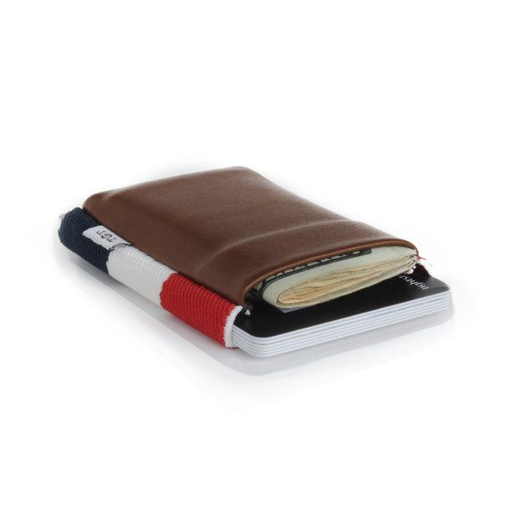 Americana 2.0 - Slim minimalist elastic and leather wallet / cardholder designed by TGT (Tight)