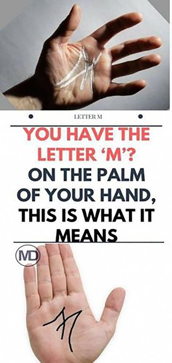 If You Have A Letter 'M' On The Palm Of Your Hand #health #food…