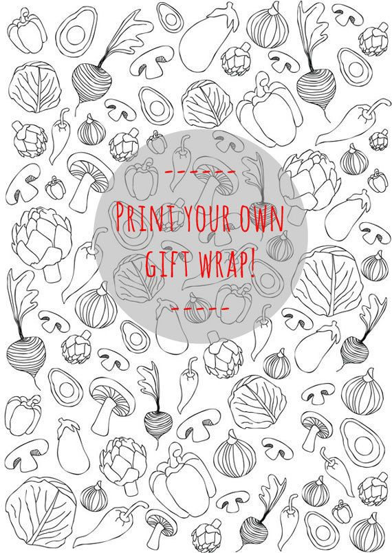 doodles zentangles a food illustrations a instant download printable gift wrap