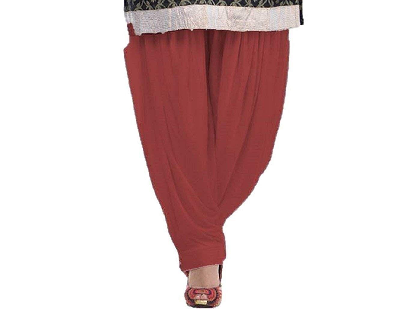 Patiala Salwar - Harem Pants - Yoga Pilates Pants 100% Cotton Free Style - Red - CT18E962WIN - Sport...