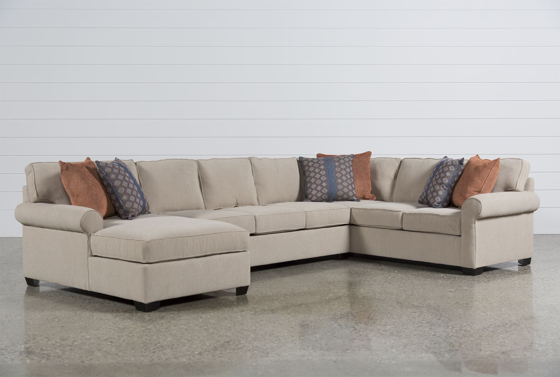 Wonderful 1,895 Camilla 3 Piece Sectional W/Laf Chaise   Signature