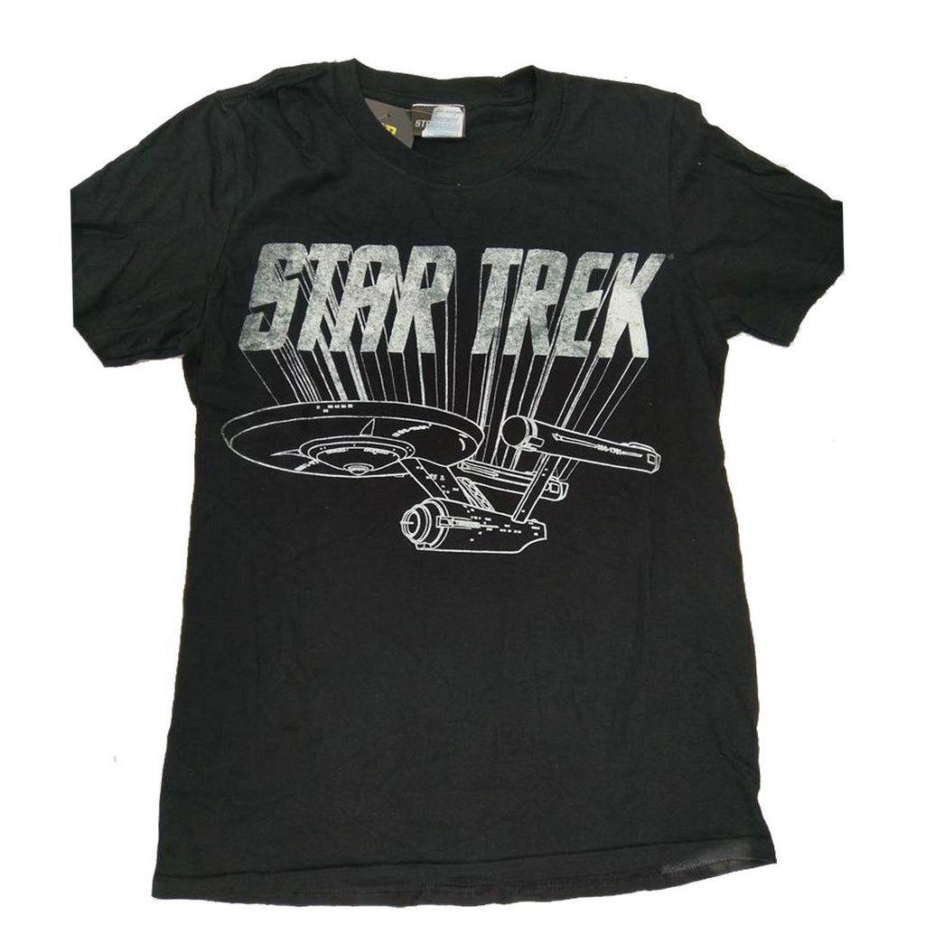 Mens star trek enterprise 100 cotton top tshirt size s m