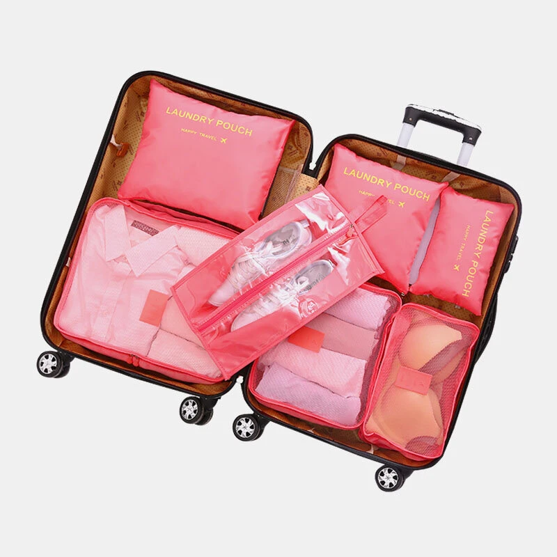 7pcs Waterproof Travel Organizer Luggage Storage Bag Travel Bag In