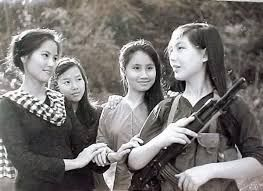 North Vietnamese propaganda photograph of VC woman.