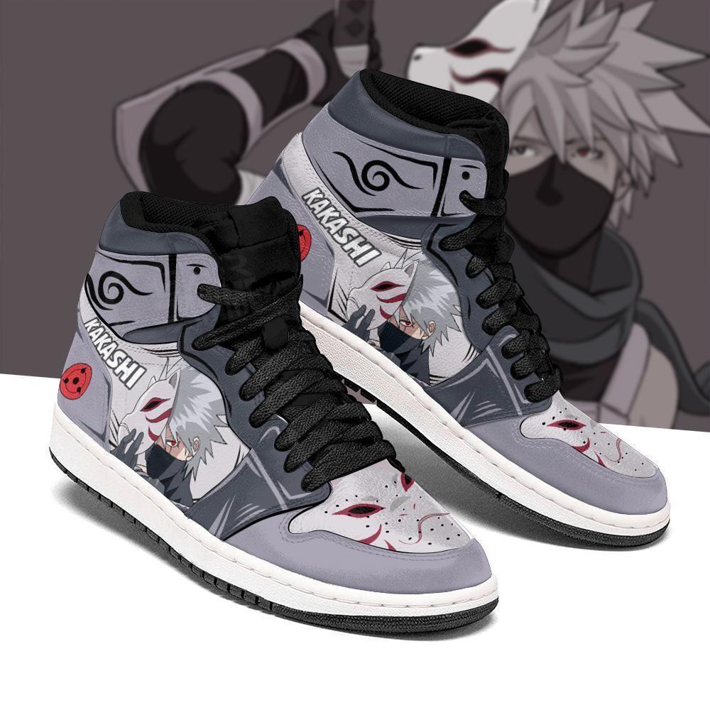Kakashi Anbu Sneakers Custom Naruto Anime Shoes - Women / US6