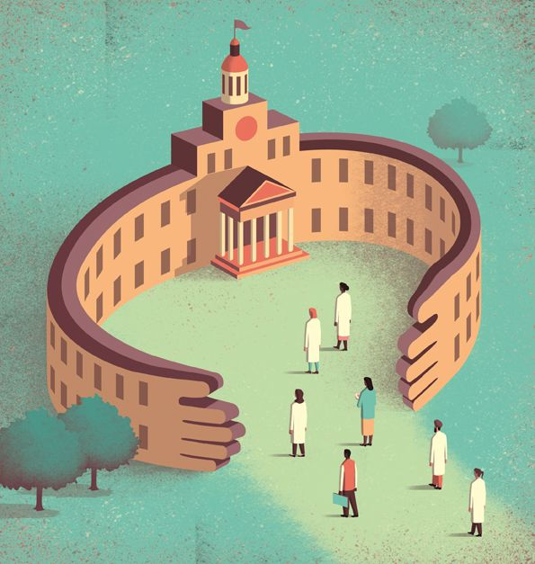 Davide Bonazzi digital stylized editorial illustration for Science - digital editor job description