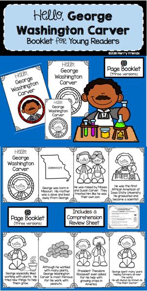 George Washington Carver Booklet Emergent Reader Black History
