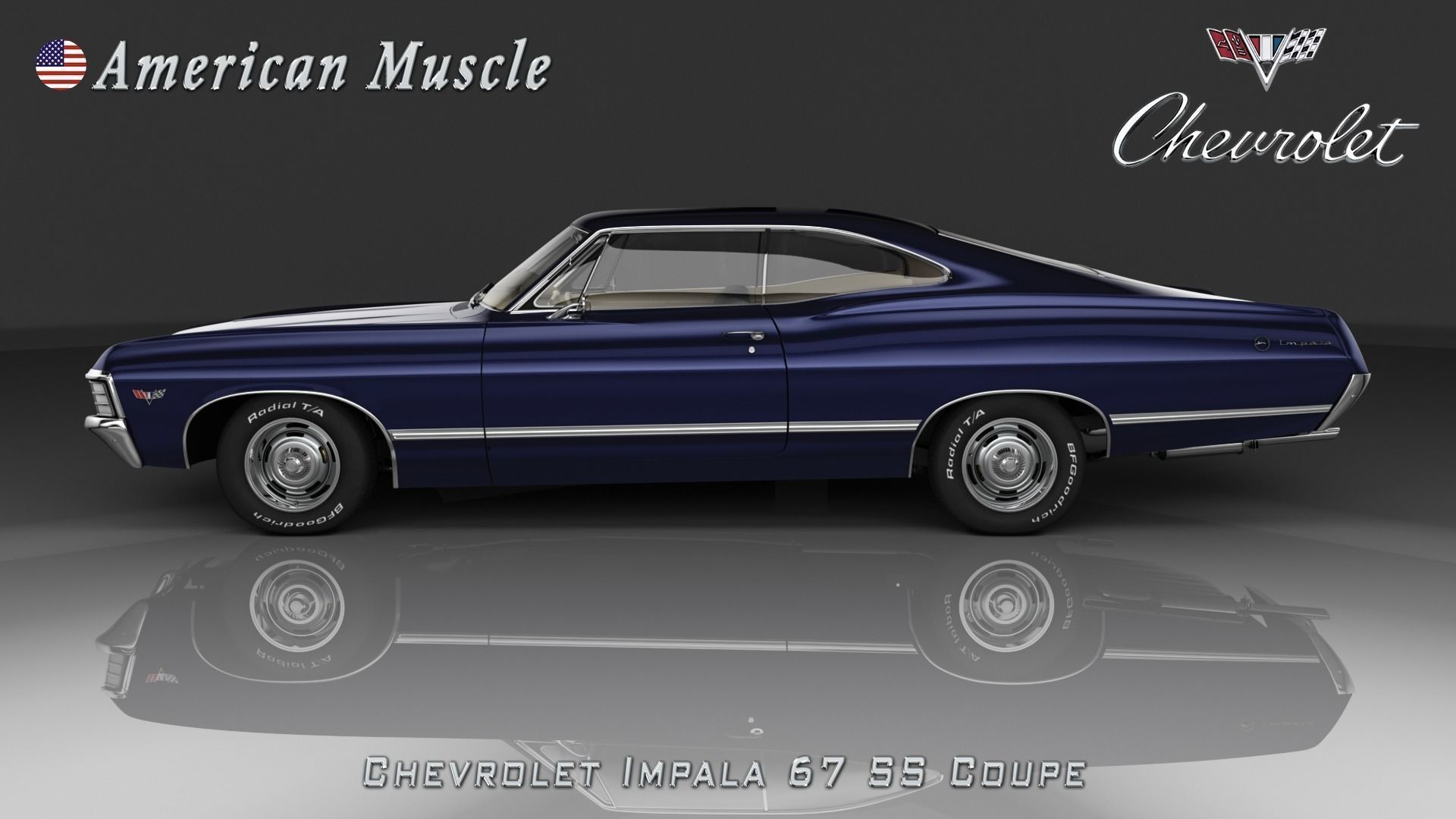 chevrolet impala ss 67 coupe'andersonflat. high quality template
