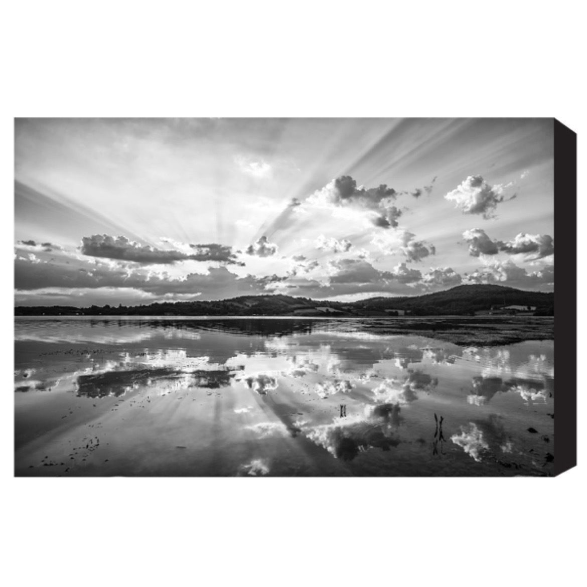 Wall art black u white print over the horizon cromly shop