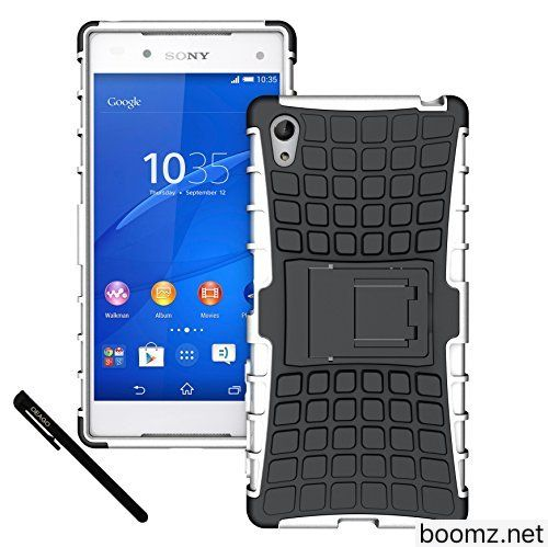 Xperia Z5 Case OEAGO Sony Xperia Z5 Case Cover Accessories  Tough Rugged Dual Layer Protective Case with Kickstand For Sony Xperia Z5 (2015 Released)  White