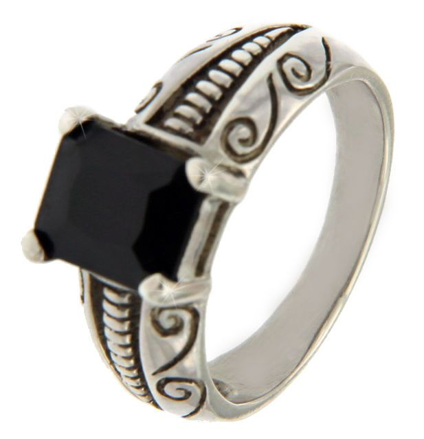 Solid Sterling Silver Black Onyx Men Ring »R112 #Unbranded #Band