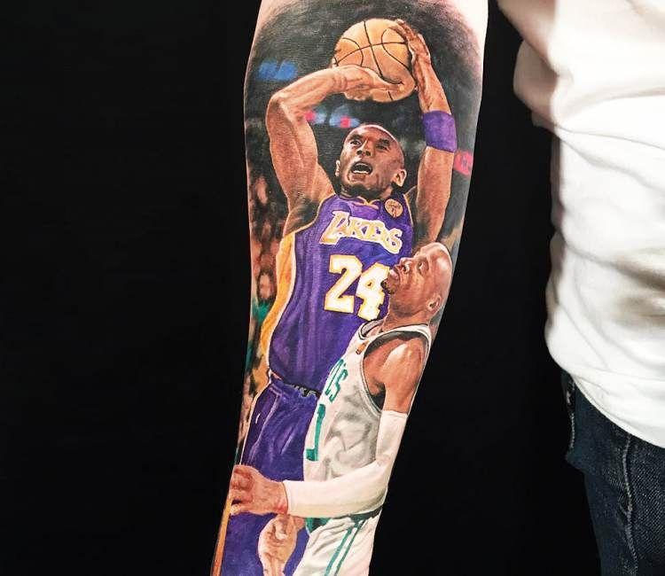 Kobe Bryant Tattoo By Steve Butcher Best Tattoos Kobe
