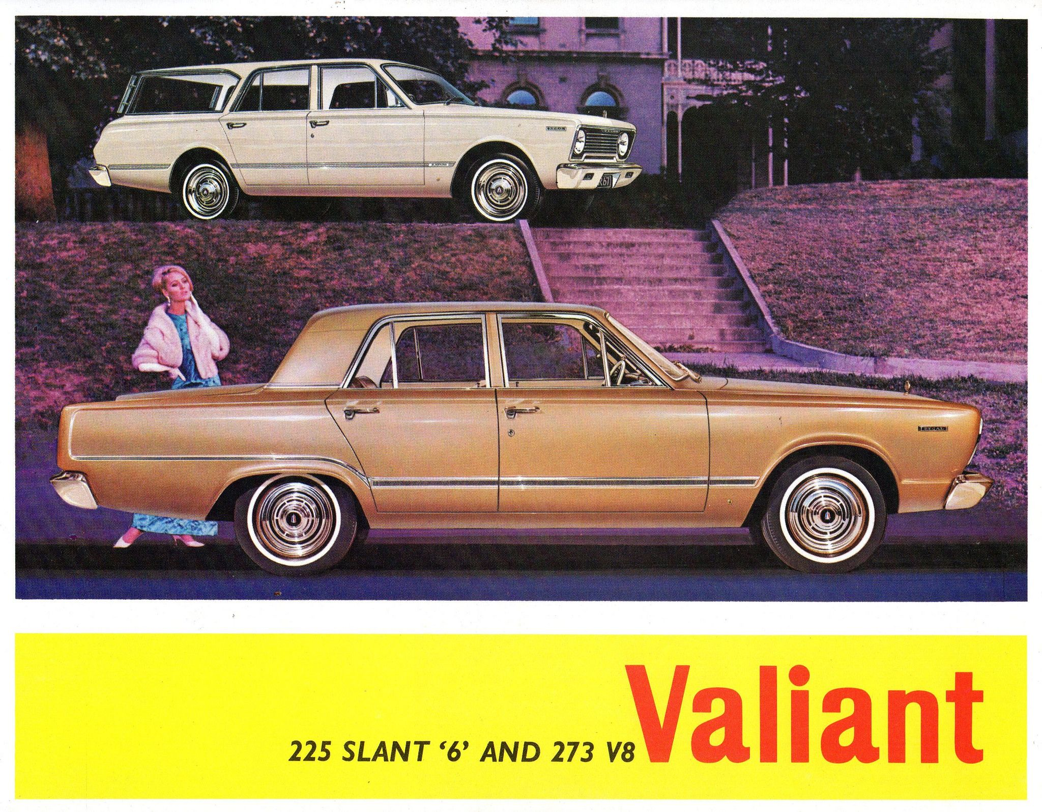 1966 VC Chrysler Valiant 225 6 & 273 V8 Range Australian Brochure ...