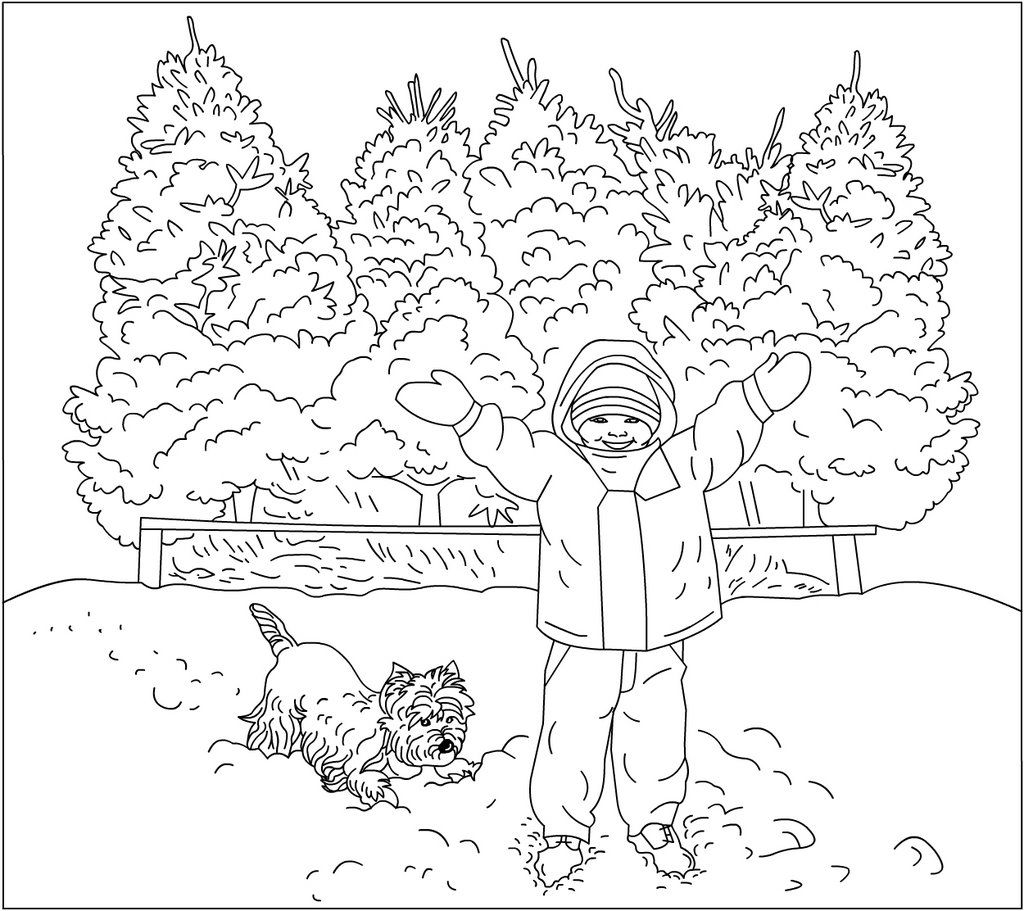 winter theme coloring pages winter coloring book on scribd