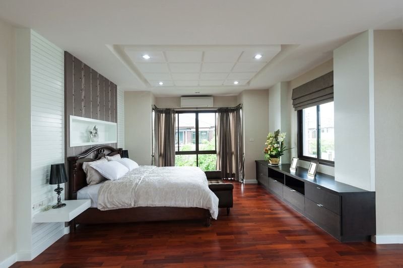 Wooden Flooring Designs Bedroom Mesmerizing Bedroom Design Ideas With Hardwood Flooring  Timber Flooring Design Decoration