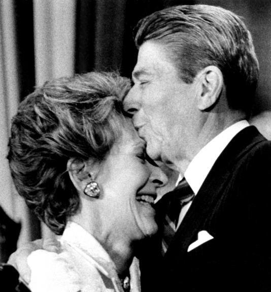 Ronald and Nancy.  Sweet.  Ronald - February 6, 1911  June 5, 2004  Nancy - July 6, 1921