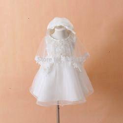 Newborn Baby Christening Gown Infant Girls White Princess Lace Baptism Dress Toddler Baby Girl Chiffon Dresses 3pcsset Online Shop 2015 Neonato Abito da battesimo Vestito...