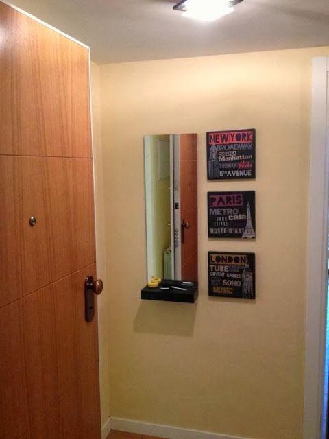 Un mueble minimalista y pr ctico para el recibidor con for Mueble lack ikea