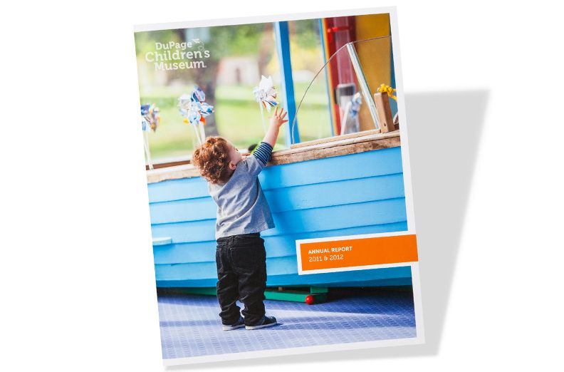 Dupage ChildrenS Museum Annual Report Cover Page  Print Work