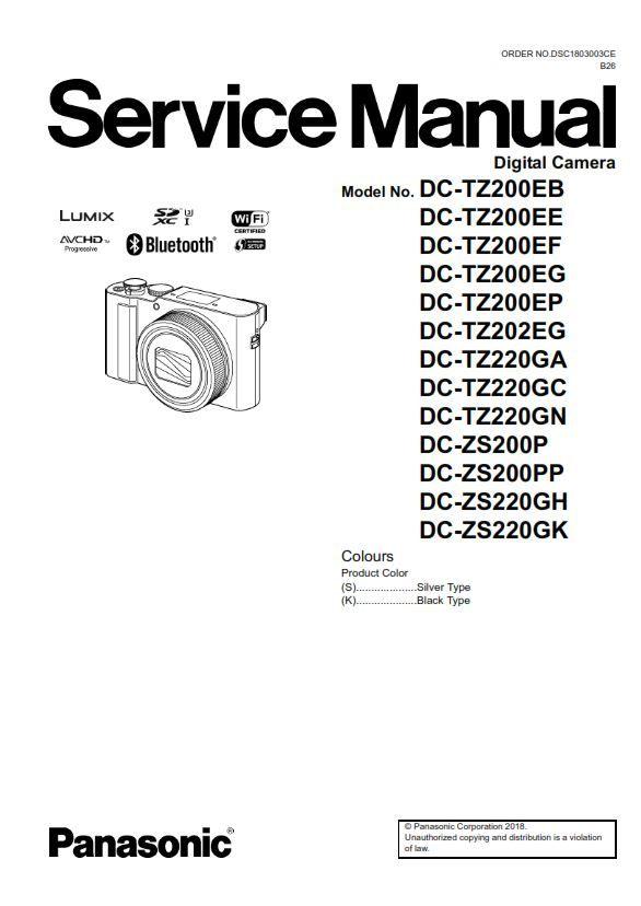 Panasonic Lumix DC-ZS200 ZS220 TZ200 TZ220 Digital Camera