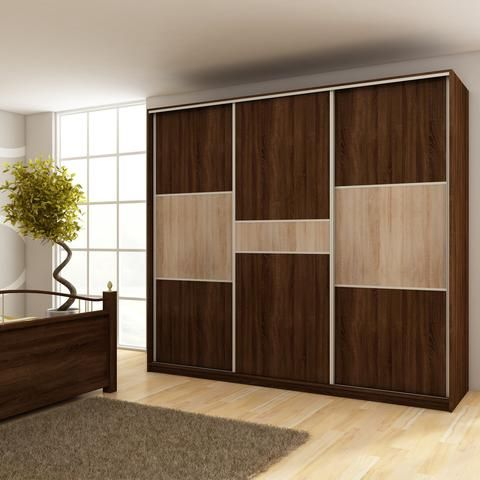 Modern Wardrobe Rico 3 Slide Door C 240cm X 216cm X 65cm Wardrobe Design Bedroom Bedroom Cupboard Designs Cupboard Design