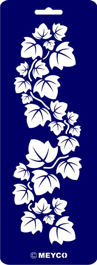Schablone Efeu   Leaf stencil, Stencil designs, Stencil ...