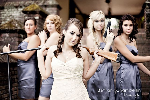 oh. thats happening at my wedding...    gun girls by Bethany Chamberlin - Photography, via Flickr