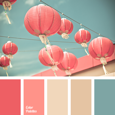 A Palette Consisting Of Rather Calm Tones Pink And Coral