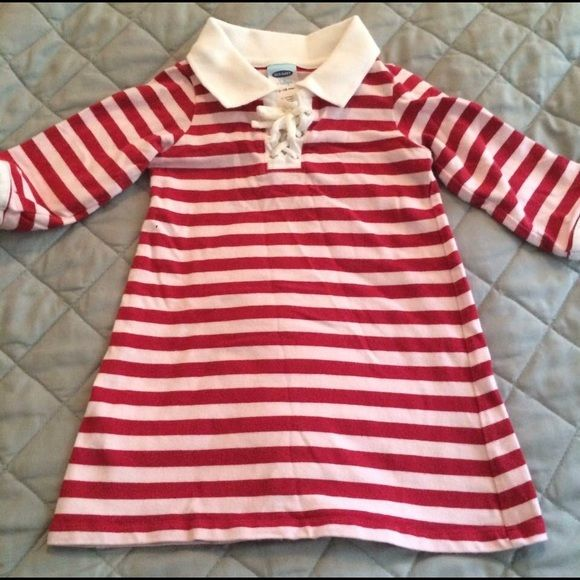 12-18 month striped dress Some color bleed but good condition otherwise. Still very cute. Old Navy Dresses Long Sleeve