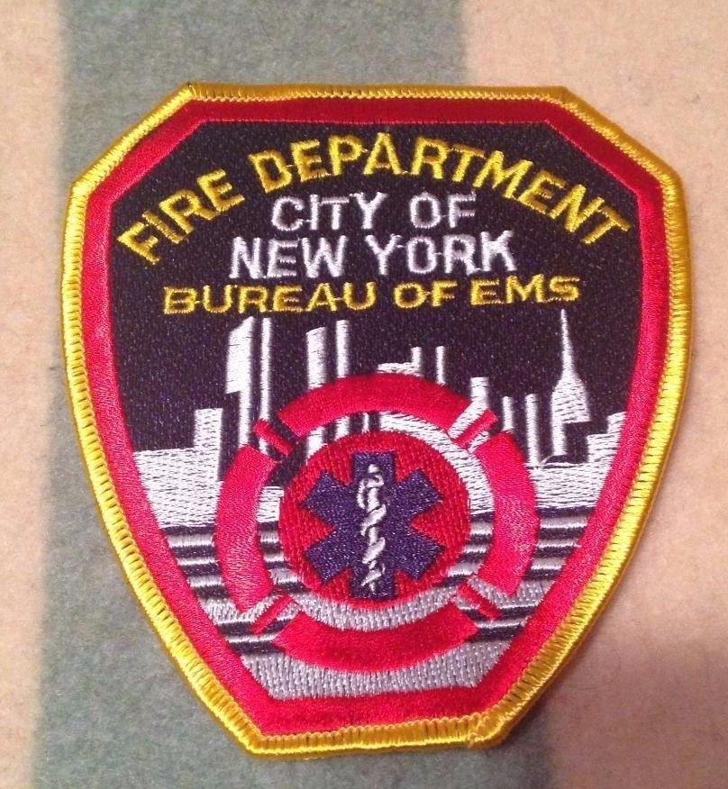 City Of New York Fire Department Fdny Bureau Of Ems Patch Brand New Ems Patch Fire Department Patches