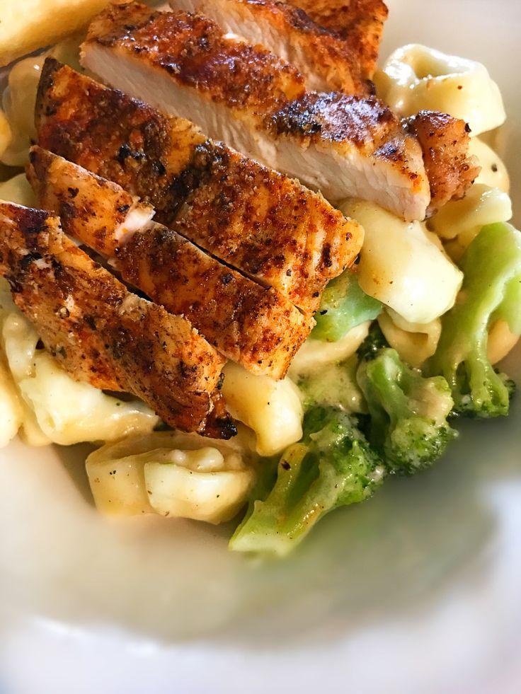Blackened Chicken Broccoli Tortellini - Chicken - #Blackened #Broccoli #Chicken #Tortellini #blackenedchicken