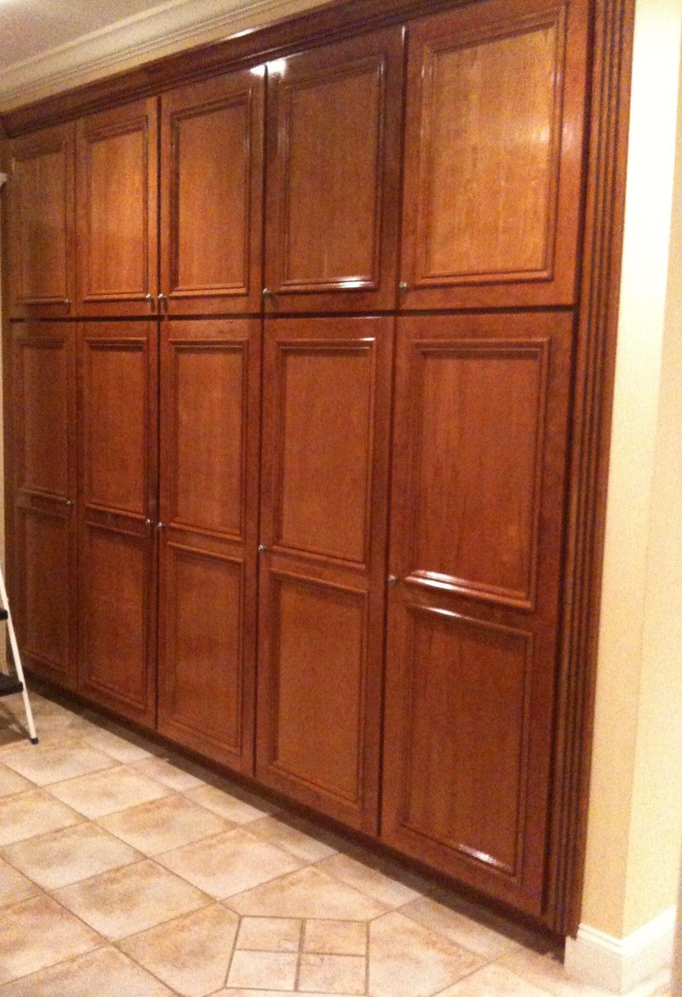 Built in cherry wood pantry