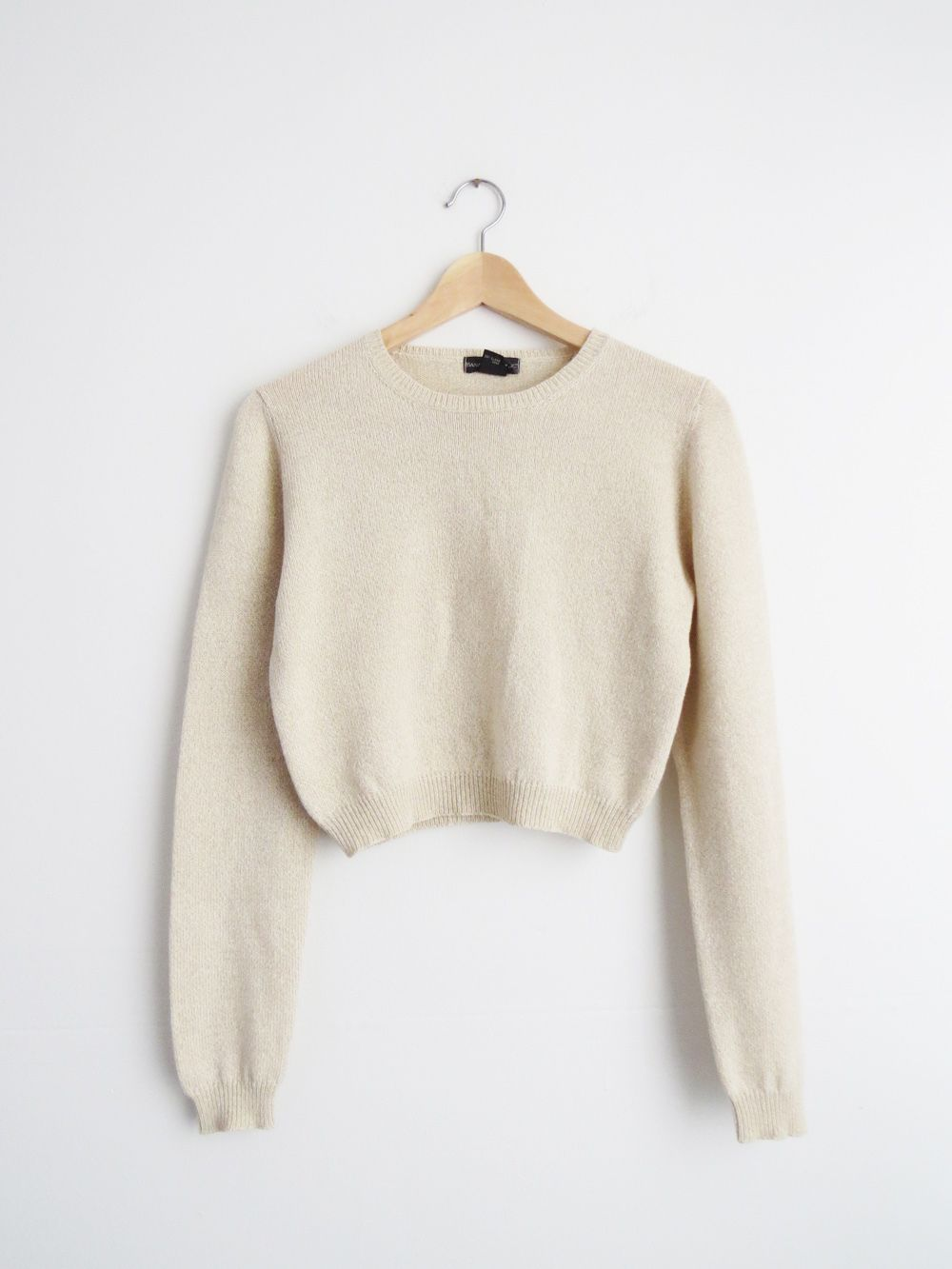 Silk Blend Cropped Knit // 90's Minimalist Top SOLD