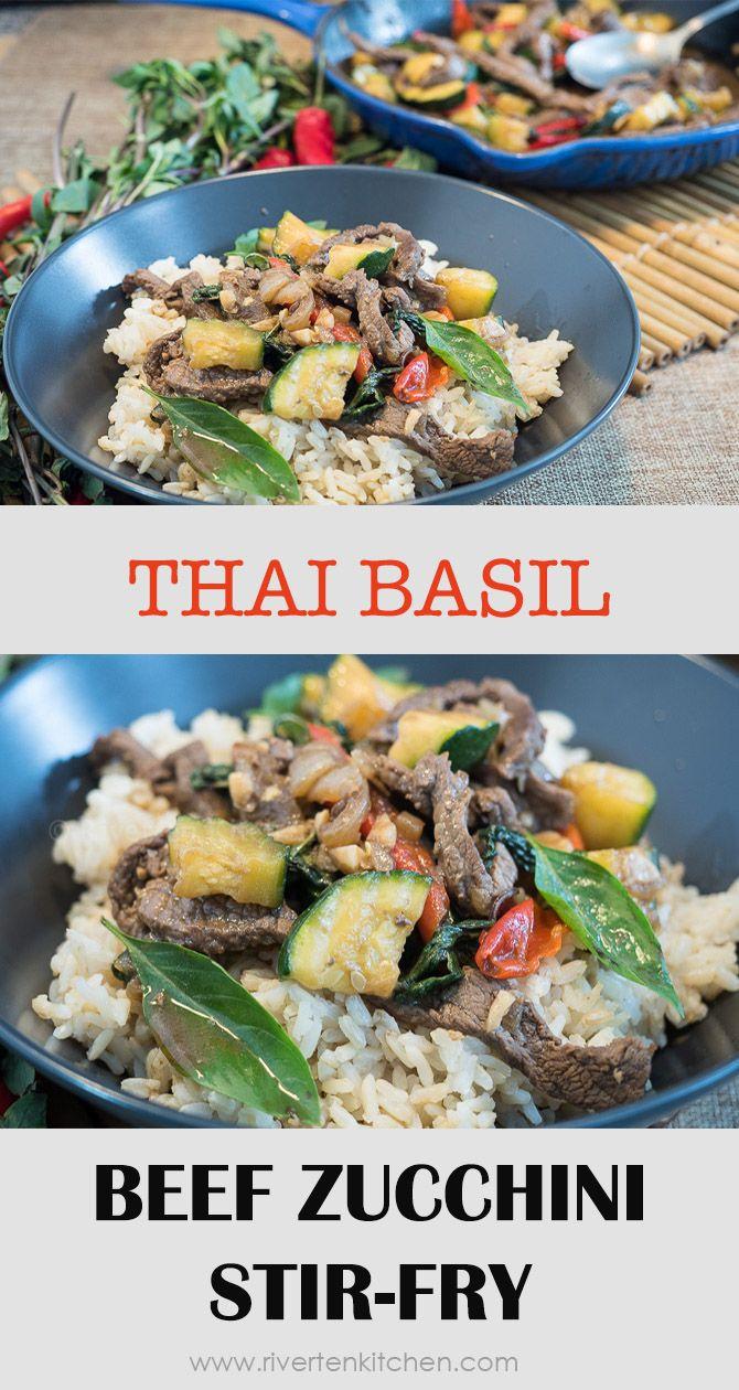 thai basil beef zucchini stirfry  recipe  beef zucchini