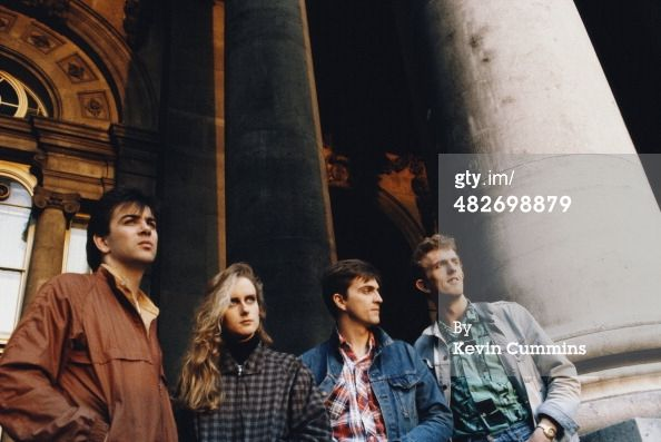 English pop group Prefab Sprout circa 1990. Nachrichtenfoto 482698879. The whole group together...