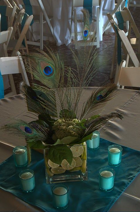 peacock wedding centerpieces this is kinda what one of our