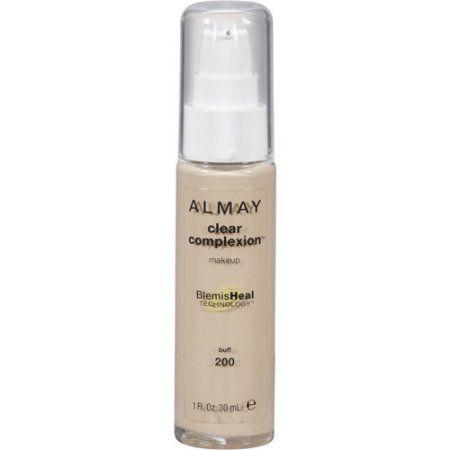Almay Clear Complexion Liquid Foundation, 200 Buff, 1 fl oz, Gold