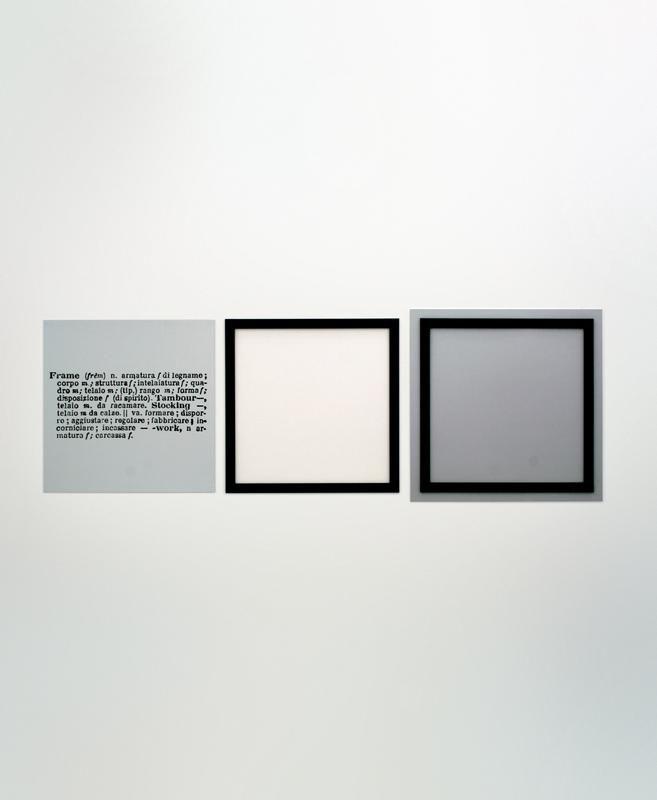 Joseph Kosuth - One and three frames - 1965 - © MADRE | PARERGONS ...