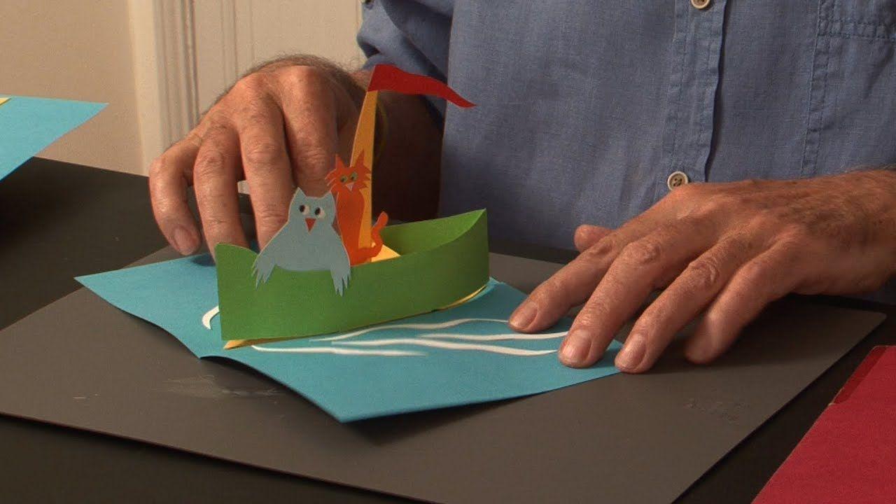 Pop Up Tutorial 32 Pop Up Boat Birthday Card Youtube Pop Up Book Pop Up Cards Pop Out Cards