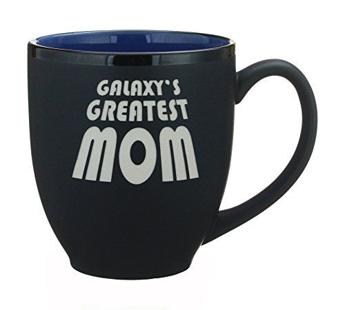 Galaxys Greatest Mom Engraved 14oz Coffee Tea Mug Cup  Birthday and Anniversary Gift Idea for Mother  Mom By Celery Street Bistro Blue *** Find out more about the great product at the image link.  This link participates in Amazon Service LLC Associates Program, a program designed to let participant earn advertising fees by advertising and linking to Amazon.com.