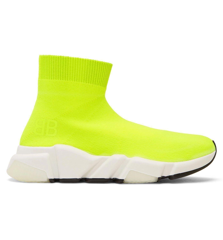 Ladies Neon Yellow Stretch Sock