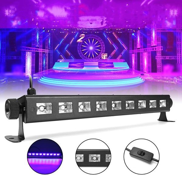 27W 385NM UV Auto Color Changing LED Stage Light for Bar Disco Party