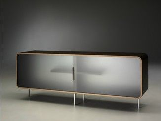 Double-sided sideboard with sliding doors CURVA | Sideboard with sliding doors - Alinea