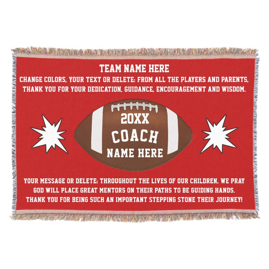 Best football coach gifts personalized blanket coach