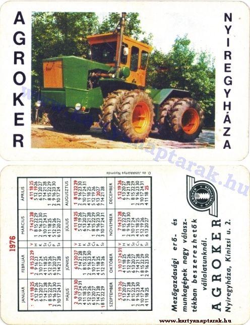 1976 - 1976_0012 - Régi magyar kártyanaptárak